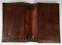Serviette porte-document en cuire façon crocodile, XXème siècle
