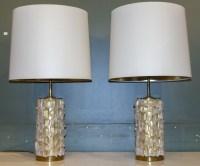 Paire de lampes en cristal de Roche.