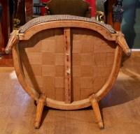 Paire de bergères de forme gondole d'époque Louis XVI