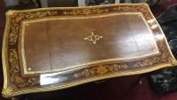 Bureau plat en marqueterie de style Louis XV, vers 1880. Réf: Charles 06