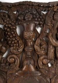 un grand panneau en chêne sculpté allegorie des saisons 17 eme siecle