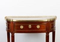 Console Louis XVI en acajou estampille de JL CAUMONT