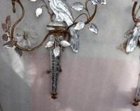1970′ Paire d'Appliques à la Perruche Posée Sur Une Gaine, Maison Baguès