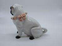 Carlin femelle blanc, porcelaine manufacture allemande - XIX