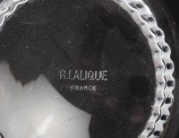 """Suite de Huit 8 Bols a Main """"Bambou"""" verre blanc de René LALIQUE"""