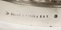 ODIOT - Suite de QUATRE CANDELABRES EN ARGENT LOUIS XV - XIXe