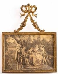 Paire de Cadres en Bronze Doré de Style Louis XV, XIXème siècle.