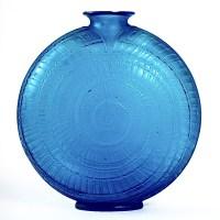"""Vase """"Escargot"""" verre bleu électrique de René LALIQUE"""