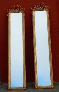 1850/80 Paire de Miroirs au Mercure N 3 .2m21 x 0m47