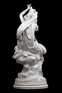 A Charming French Late 19th Century Biscuit Sculpture After Carriere-Belleuse Signed On The Base.