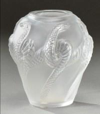 """Cristal Lalique :Vase """"Serpent"""""""