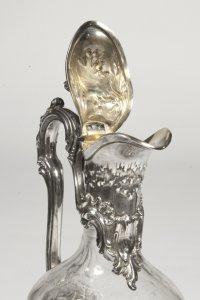Aiguière en argent et cristal - Début XXè - par l'orfèvre Bointaburet