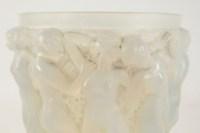 """RENE LALIQUE (1860-1945) Vase «Bacchantes """" Opalescent"""