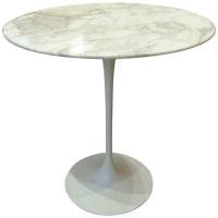 """Eero Saarinen & Knoll, """"Tulipe"""", gueridon/table marbre, xxth"""