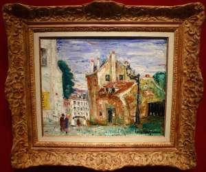 GENIN Lucien - Vue de Paris Montmartre Maison de Mimi pinson Tableau XXème