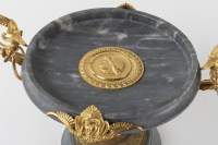 A French 19th Century neo-greek st. turquin marble and ormulu tazza.