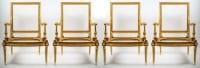Suite de 4 fauteuils de Style Louis XVI