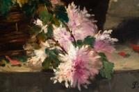Chrysanthemum in a basket.