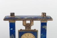 Reveil de bureau en lapis lazuli