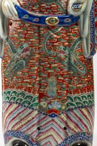 Très grande figure chinoise de Luxing, le dieu de la richesse, période Guangxu