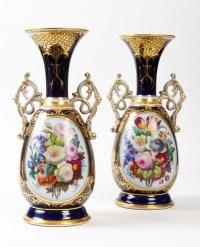 Une paire de vases de Bayeux, XIXème