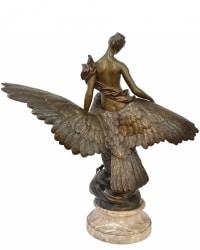 Hébé et l' Aigle de Jupiter par Benoît Lucien Hercule (1848-1913)