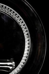 """Suite de Onze 11 Assiettes """"Champigny"""" cristal blanc de LALIQUE FRANCE"""