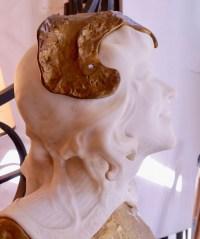 Sculpture Sarah Bernhardt de Gaston BERTHOUD (fondeur pinedo) en bronze et marbre de Carrare