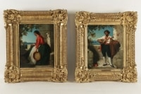 Dominique Louis Papety (1815 - 1849): A pair of portraits of the Neapolitans.