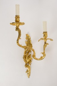 A Pair of Louis XV style wall lights.