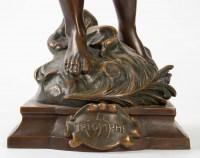 Statue Bronze patiné Moreau XIXème