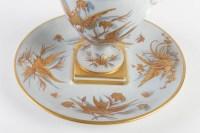 Pot Couvert et Soucoupe (Oiseaux de Paradis)Le Tallec milieu du 20e siècle