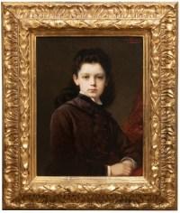 Portrait d'une jeune fille - Nathaniel Sichel (1843-1907)