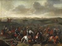 La bataille de Lekkerbeetje – Attribué à Sebastiaen Vrancx (1573 – 1647)