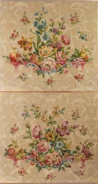 Paire de projets de cartons de tapisserie.XIXéme siècle.