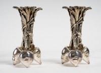 Paire de vases aux trois carottes de Christofle