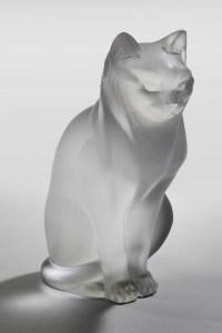 """Maison Lalique :Chat """"Assis"""""""