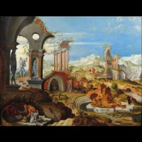 St-Jérôme dans les ruines de Rome – Pays-Bas fin 16ème siècle