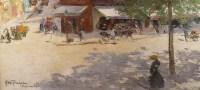 Abel Truchet Louis Peinture Française Belle Epoque Paris Vue De Montmartre Huile Sur Toile Signée