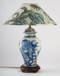 Lampe en porcelaine de Chine.