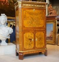 Secrétaire En Marqueterie De Fleurs d'époque Louis XVI Estampillé C. Topino