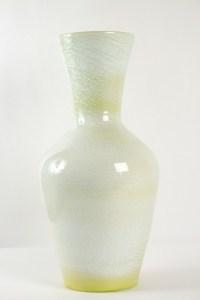 Grand vase en faïence signé accolay - céramique année 50