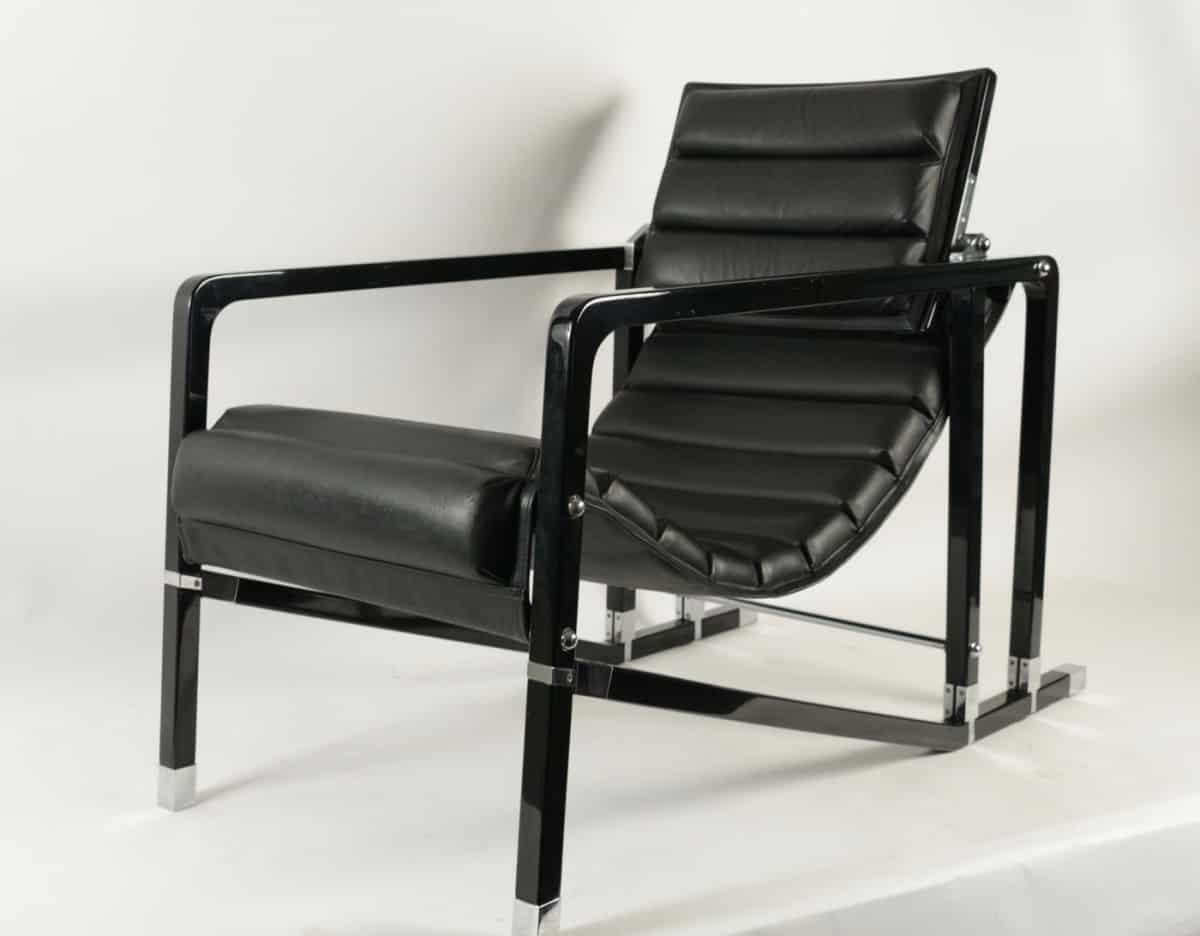 le march biron fauteuil transat d 39 eileen gray edition ecart international 1994. Black Bedroom Furniture Sets. Home Design Ideas