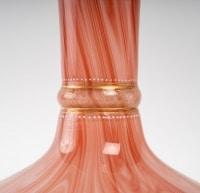 Vase doublé rouge et blanc XIXème