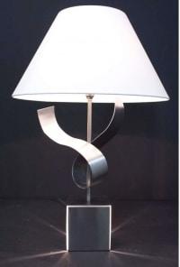 1970s Sculpture Table Lamp by François Monnet