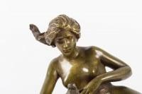 Encrier en bronze de Maurice Bouval