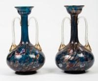 1 paire de vases Venise (Murano) à  millefiori et adventurine (Salviati) 1870