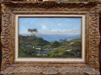LANSYER Emmanuel Peinture 19ème Siècle Paysage de Méditerranée Huile sur toile signée et datée