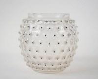 """René Lalique Vase """" Cactus """" Emaillé Noir"""