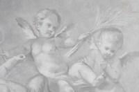 Suite 3 Grisailles, 1880-1890 On Canvas, Napoleon III Period, Interior Decoration